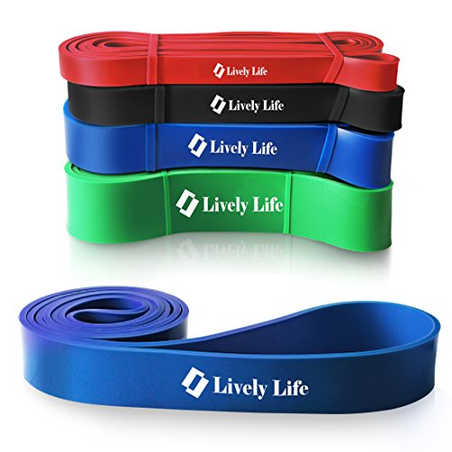 Stretch Band, Lively Life Elastic Workout Resistance Loops Bands for Heavy Duty Fitness, Stretching, Physical Therapy, Gymnastics, Dance and Cross Fit Pull Up Assist Blue For Sale