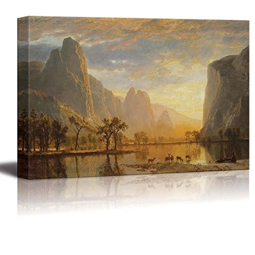 Valley of The Yosemite by Albert Bierstadt Print Famous Painting Reproduction '