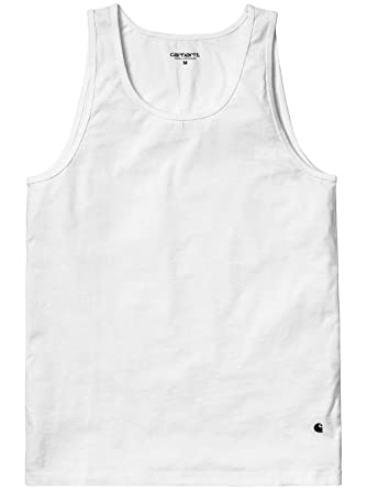 90fc39fa9e4c1 Carhartt Mens Premium Cotton Vest In White  Amazon.co.uk  Clothing
