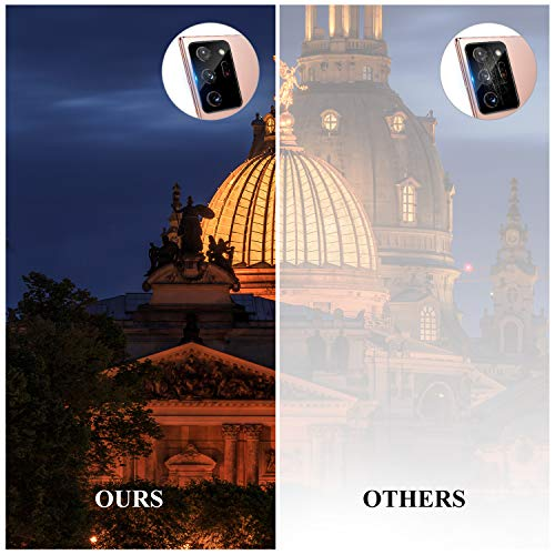 QITAYO Designed for Samsung Galaxy Note 20 Ultra Screen Protector (2 Pack) and Camera Lens Tempered Glass Protector (2 Pack), No-Bubble, Anti-Scratch, Case Friendly (6.9 inch)