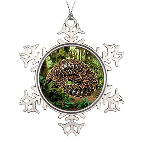 Pangolin Personalised Christmas Tree Decoration Snowflake Christmas Decorations Anteater Forest Tenggling