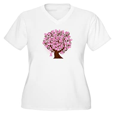adaa0a31 Image Unavailable. Image not available for. Color: CafePress - The Tree of  Life.Breast Cancer Plus Size T-Shirt - Women's