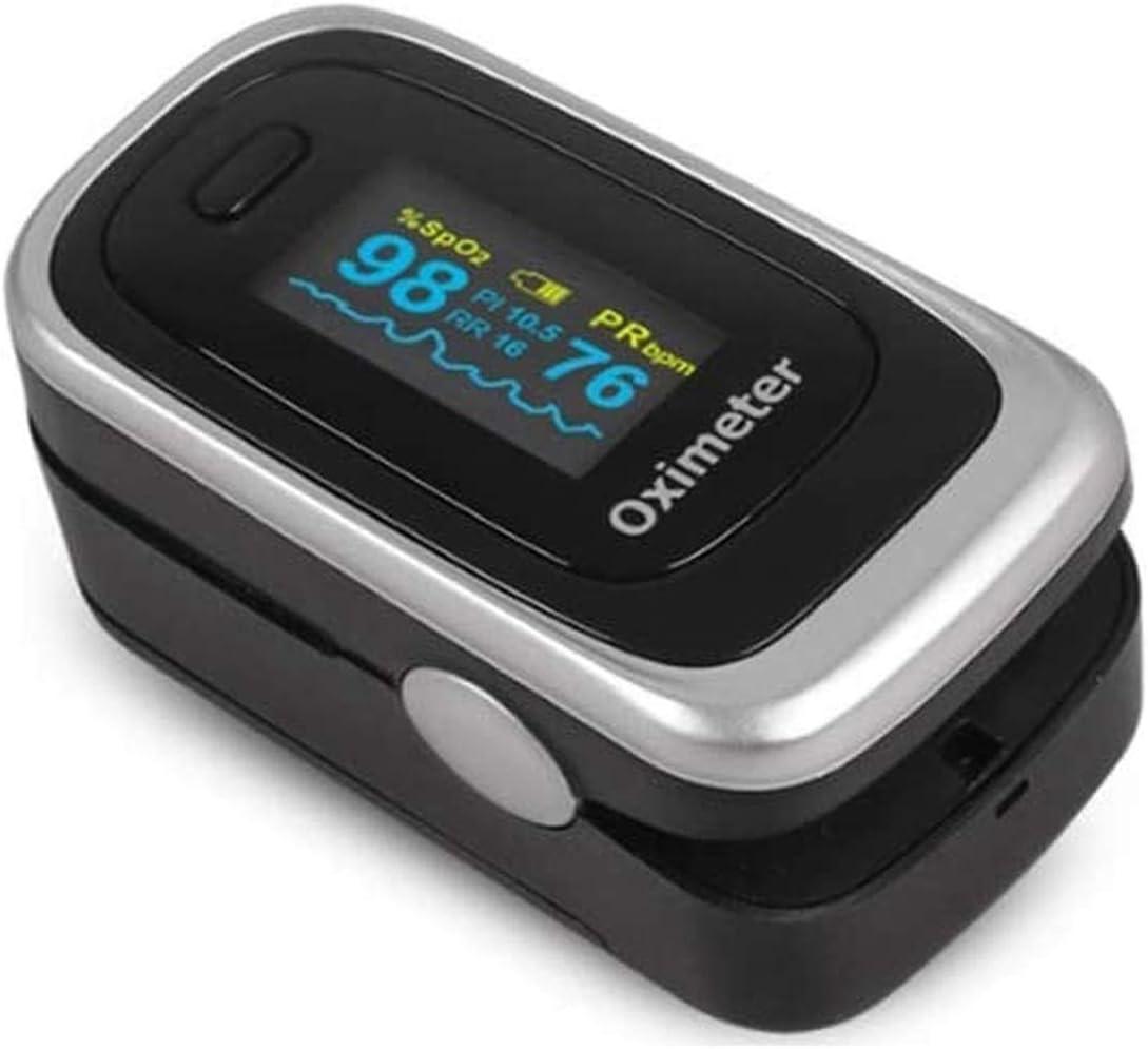 OxíMetro De Pulso OxíMetro De Pulso De Dedo OxíMetro Ideal para La MedicióN RáPida De La SaturacióN De OxíGeno (SpO2) - Monitor De Frecuencia CardíAca Simple para NiñOs Adultos - Pantalla LED