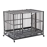 Bestmart INC 48' Heavy Duty Dog Cage Crate Kennel Metal Pet Playpen Portable w/Tray New