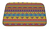 Gear New Mexican Pattern Bath Rug Mat No Slip Microfiber Memory Foam