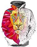 GLUDEAR Unisex 3D Pattern Print Athletic Pullover Hoodies Hooded Sweatshirts