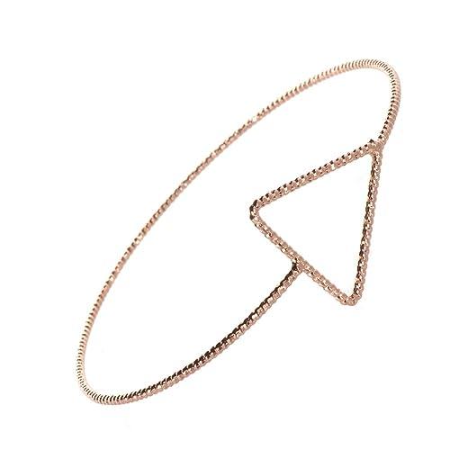 Minimalist Fashion Schmuck: Rose Gold Diamant Schnitt Draht Armreif ...
