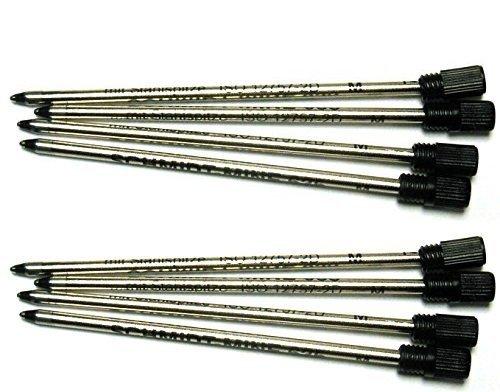 - Schmidt 8 Genuine 635M ISO 12757-2D, D1 Ballpoint Pen Refills, Compatible with Swarovksi Crystalline Pens, 8 Plastic Tops Included (Black)