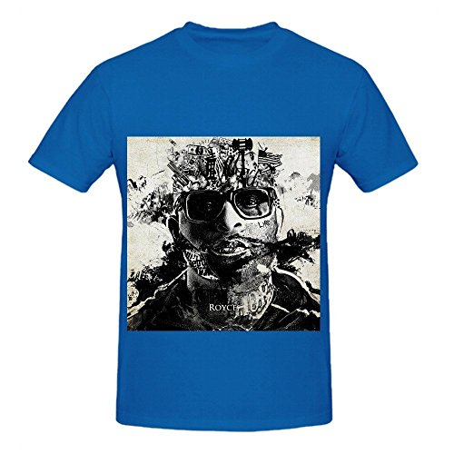 Royce Da 59 Layers Men Crew Neck Customized Tee Blue
