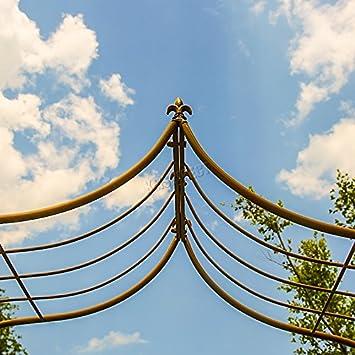 Westwood Metal Patio Jardín Arco Puerta Entrada Boda Arco Flores Pergola Escalada Plantas Enrejado Gateway Fiesta Decor MGA01 Bronce
