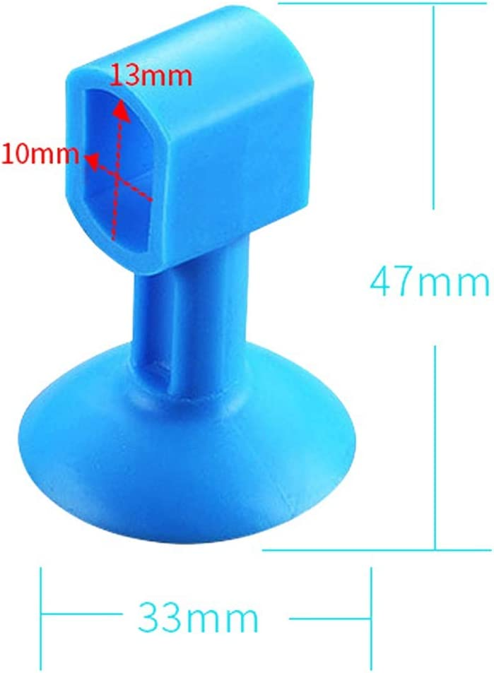 NO LOGO 2pcs Doorknob Wall Mute Crash Pad Cushion Cabinet Door Handle Lock Silencer Attached Silicone Anti-collision House Door Stopper Color : Blue