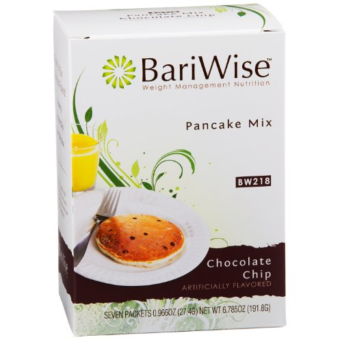 BariWise High Protein Pancake Mix / Low-Carb Diet Pancakes - Chocolate Chip (7 Servings/Box) - Low Carb, Low Fat, Low Calorie, Aspartame Free