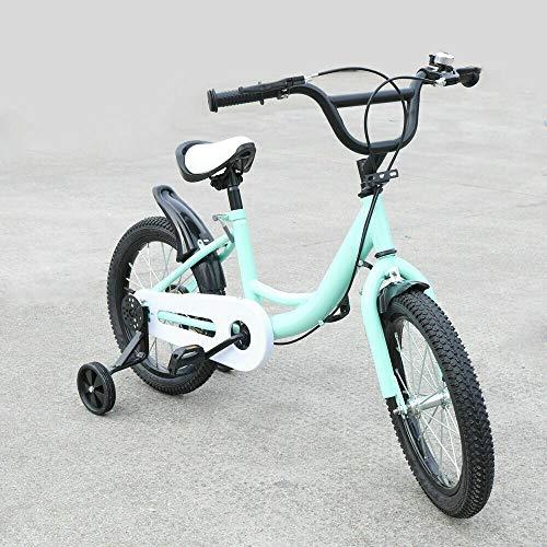 Kinderfietsen, groen, 16 inch, kinderfietsen, jongensfietsen, MTB-fiets met terugtraining wielen, ideaal als cadeau
