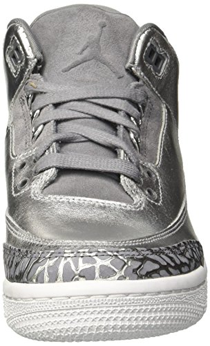 HC Shoe Cool 3 Silver Jordan Women's Prem Women Air Retro Metallic Basketball 5 7 Jordan Grey US Nike p1O0wq41
