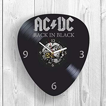Vinyl Wall Clock, AC DC, ACDC Rock Music, Band, Highway to Hell, TNT, Brian Johnson, Room Decor, Home Decor, Unique Design, Pop Modern Wall Art, Vintage Vinyl Record