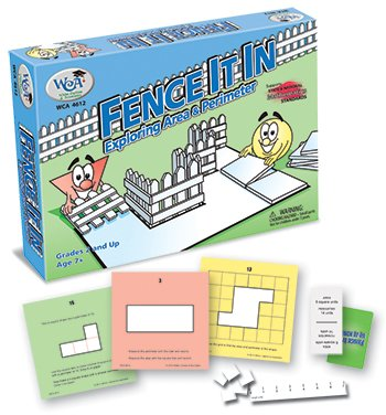 fence it in area and perimeter game for kids math