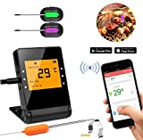 Cheap Shinmax BBQ Meat Thermometer for Grilling,APP Controlled Smart Cooking Bluetooth Thermometer for Outdoors Smoker Oven BBQ Indoor Kitchen (2)