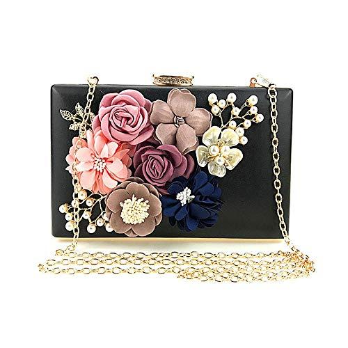 Et Avec Femme Fleurs couleur À Soirée Strass Rose Main Cyan Pour Pochette 7 Sac A Fête 7 De qx7wv4