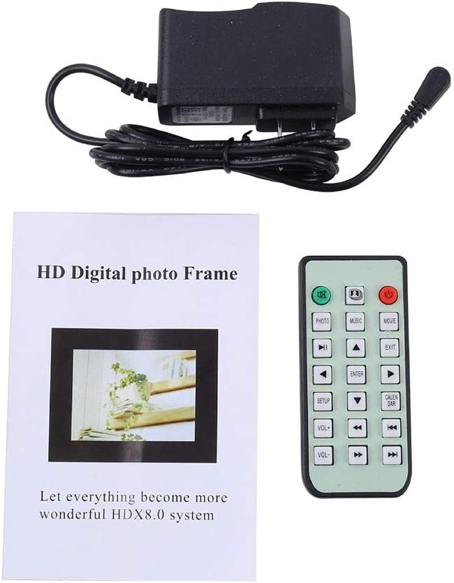 Color : Black, Size : Free Size Yuybei Digital Picture Frames 13 Inch Digital Picture Frame 1280800 Pixels High Resolution Smart Electronic Frame Auto On//Off Timer Remote Control Included
