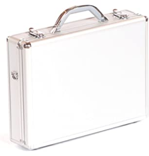 Executive Aluminium Business Laptop Flight Case Briefcase Storage Box Bag  Silver