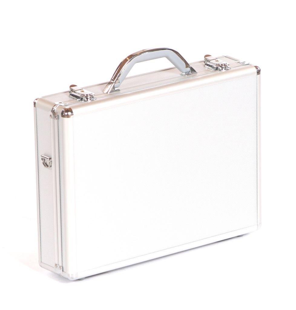 Maletín para portátil de visita caja de caja transporte para caja de de almacenaje de maleta plateado 1b58f3