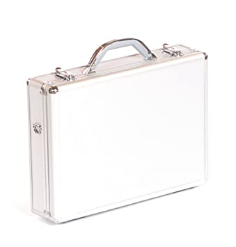 Exceptionnel Executive Aluminium Business Laptop Flight Case Briefcase Storage Box Bag  Silver