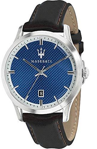 MASERATI Reloj Analógico para Hombre de Cuarzo con Correa en Cuero R8851125007: Amazon.es: Relojes