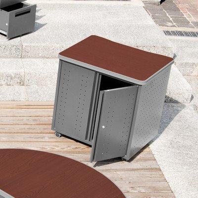 OFM 66746-CHY Mobile Locking Storage Cabinet, 30'', Cherry