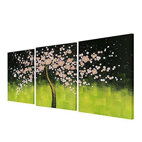 - Art Hand-painted Abstract Oil Painting Modern Plum Blossom Artwork Floral Canvas Wall Art Hangings Stretched Modern Abstract Painting Canvas Living Room Office Wall Art Home Decoration 16
