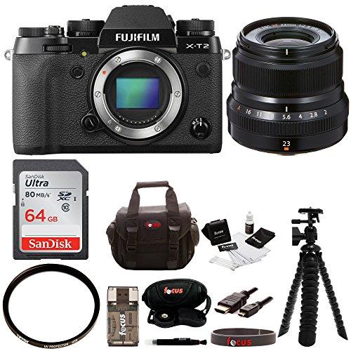 Fujifilm X-T2 Mirrorless Digital Camera  w/23mmF2 R WR Lens