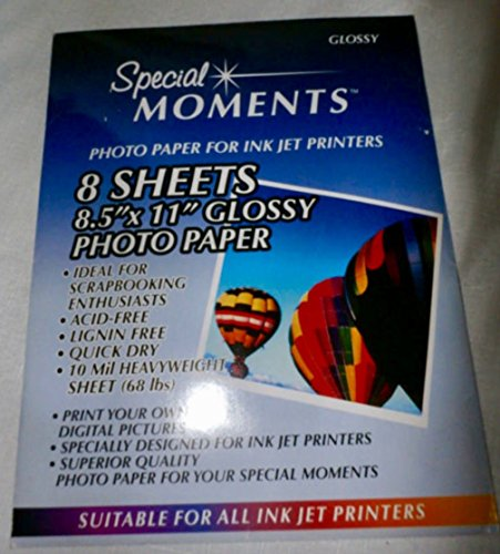 Special Moments Photo Paper 8 Sheets (Glossy)