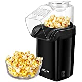Aicok Popcorn Poppers, Hot Air Popcorn Maker No Oil Needed, 1200W Fast Popcorn