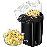 Aicok Popcorn Poppers, Hot Air Popcorn Maker No Oil Needed, 1200W Fast Popcorn