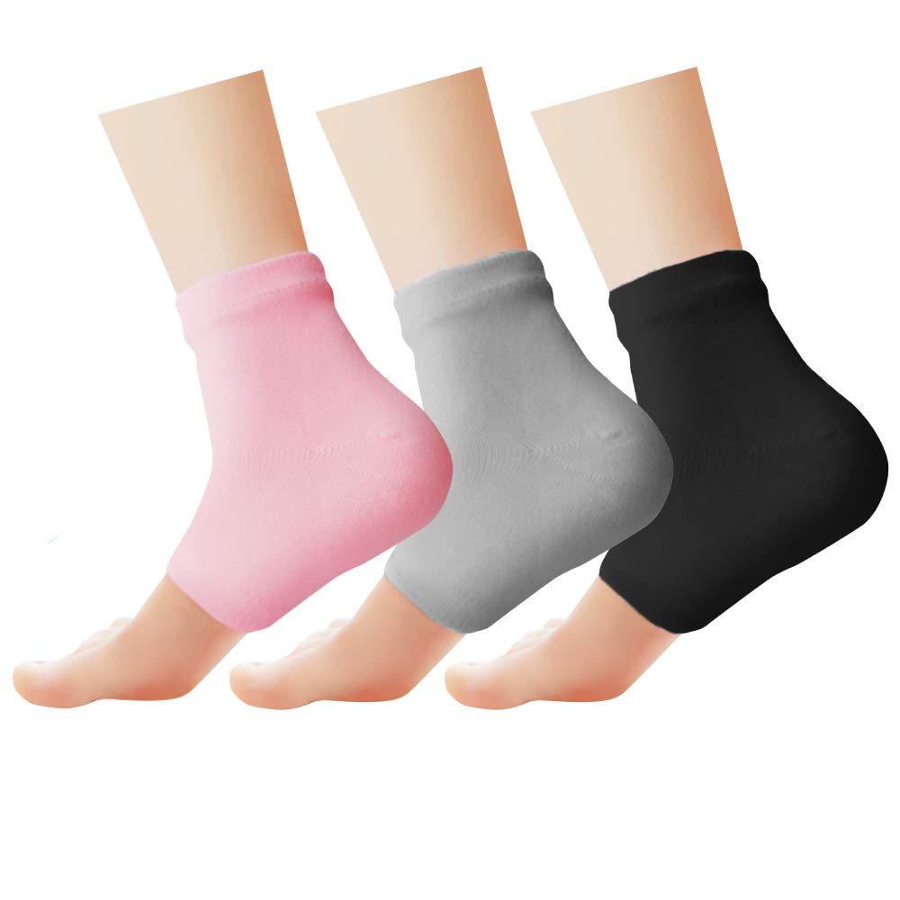 Phenitech Gel Handschuhen, Gel Socken, Spa Handschuhe und Spa-Sockens,Feuchtigkeitsspendende Handschuhe und Feuchtigkeitsspendende Socken, Soften Feet Skin mit ätherisches Öl Behandlung trockenen Haut für Füße Peeling (1 Paar Handschuhe 1 Paar Socken)