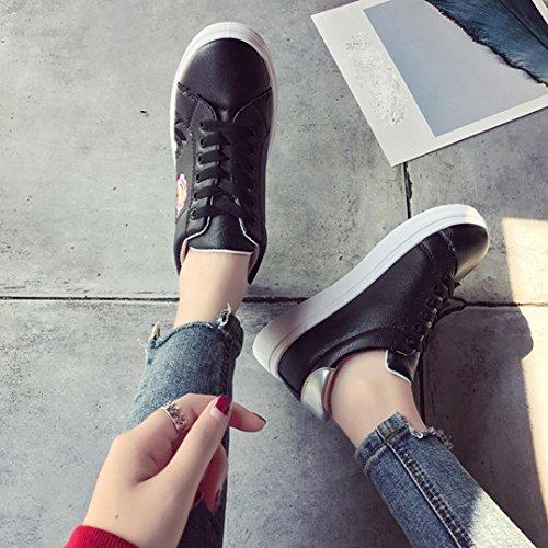 estive stringate eleganti Scarpe Ginnastica donna scarpe Donna Basse donna da beautyjourney Sportive corsa scarpe basse donna donna Scarpe da sneakers ginnastica da Nero scarpe donna qHpw8w