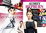 Lady Hepburn Movie Collection Audrey Sabrina + Paris When it Sizzles & Roman Holiday / Breakfast at Tiffany's / Funny Face + My Fair Lady Musical 6 Movie Romantic Classic Bundle Set