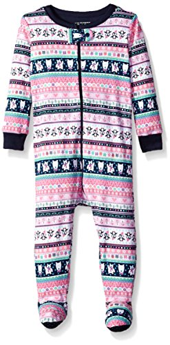 The Children's Place Baby Christmas Long Sleeve One-Piece Pajamas, Multi Clr 91114, 3-6MONTHS by The Children's Place