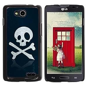 Be Good Phone Accessory // Dura Cáscara cubierta Protectora Caso Carcasa Funda de Protección para LG OPTIMUS L90 / D415 // Skull Pirate Sign Emblem Art Bones Slogan