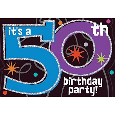 Amazon The Party Continues 50th Birthday Invitations 8ct – 50th Birthday Invitations