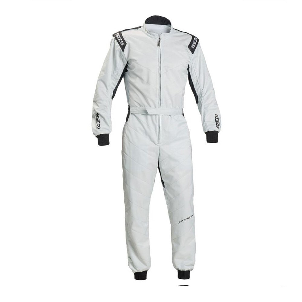 Sparco 002337SI4XL Mono para Karting, Plata, XL S002337SI4XL