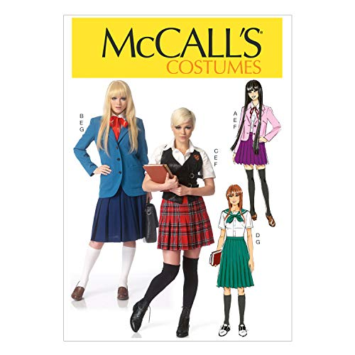 (McCall's Pattern M7141 A5 Blazers, Vest, Sailor Blouse and Pleated Skirt, Size 6-14)