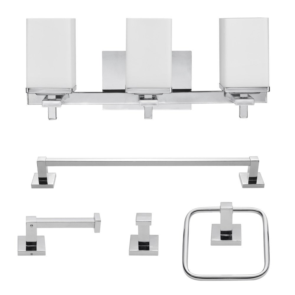 Globe Electric 59221 Vanity, Chrome