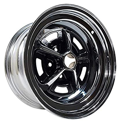 Magnum 500 Wheels >> Amazon Com 65 73 Ford Mustang Magnum 500 Wheel Chrome With Black