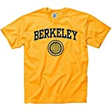 f263784d3e447b Shop College Wear University of California Berkeley Arch & Seal Mens T-  Shirt- Gold