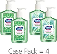 PURELL Advanced Hand Sanitizer Soothing Gel for the workplace, Fresh scent, with Aloe and Vitamin E - 8 fl oz pump bottle (P