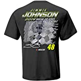 Checkered Flag 2019 NASCAR Cup Series Driver Schedule T-Shirt-Jimmie Johnson #48-Charcoal-XXL