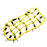 Yellow 1/10 RC Elastic 18x9cm Luggage Net with Hook for RC Vehicles Crawler Buggy Car D90 TRAXXAS TRX-4 Roof Rack