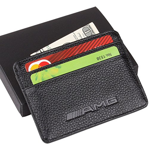amg-mercedes-benz-slim-wallet-black-with-4-credit-card-slots-genuine-leather