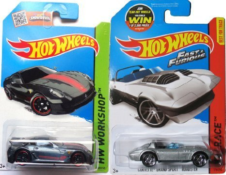FAST & FURIOUS Hot Wheels Ferrari 599XX set HW Race # 179 Corvette Grand Sport Roadster Convertible in PROTECTIVE - Ferarri Racing