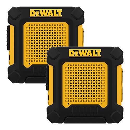 DEWALT DXFRS220 Wearable Heavy Duty Walkie Talkies - Hands Free, Shock Resistant, Long Range  Rechargeable Two-Way Radio with VOX (2 Pack)